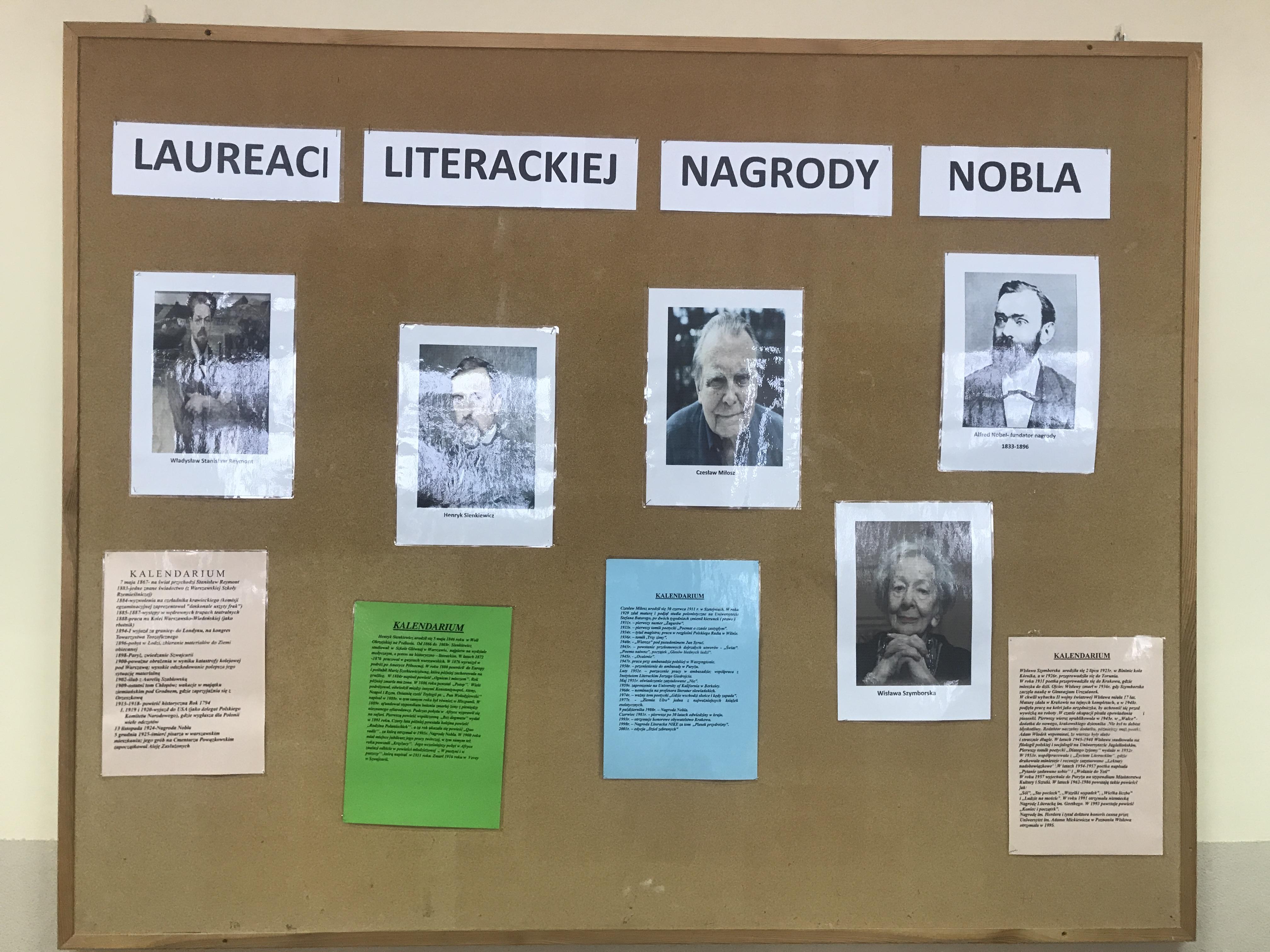 Projekt Edukacyjny Polscy Nobliści W Dziedzinie